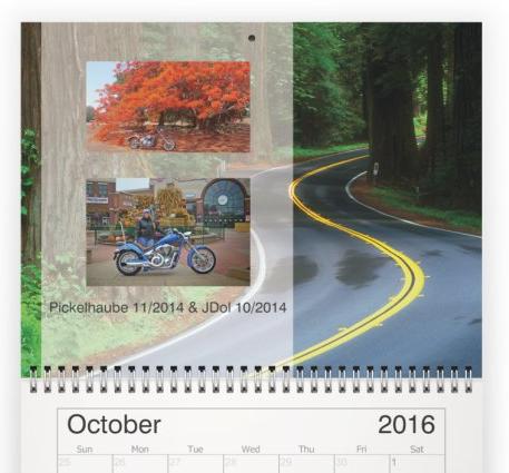 2016 Calendar FPOTM